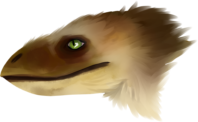 Utahraptor head by Bezrail