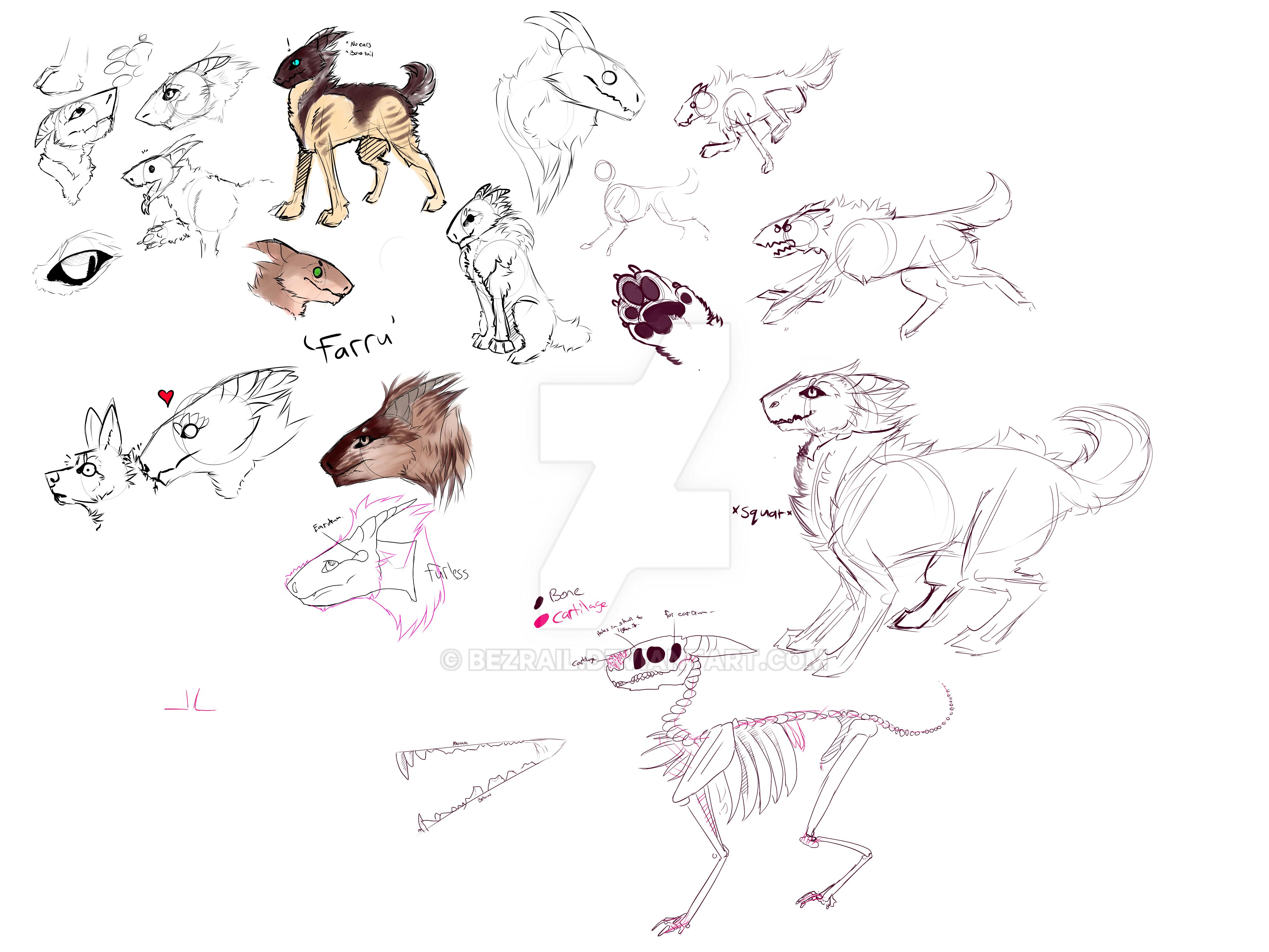 Farru sketches by Bezrail