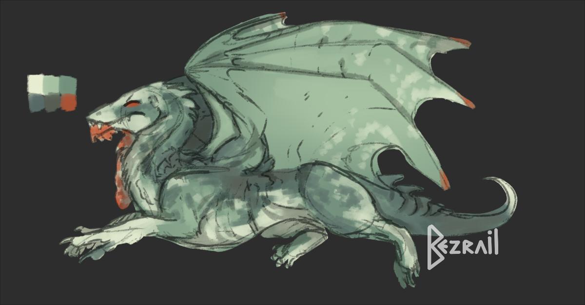 ''Sort of cliche'' Dragon adopt - OPEN by Bezrail