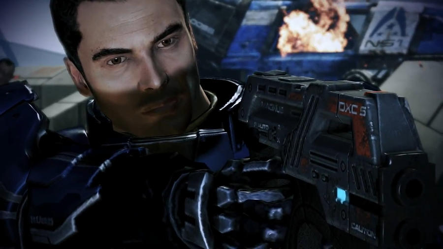 Kaidan Defending Udina - Mass Effect 3 by loraine95