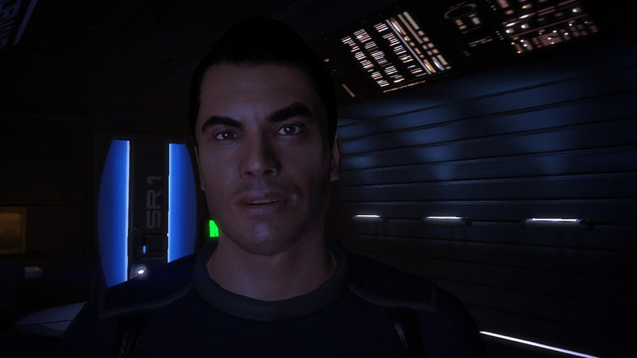 Kaidan Alenko in Shepard's Quarters2 - Mass Effect by loraine95