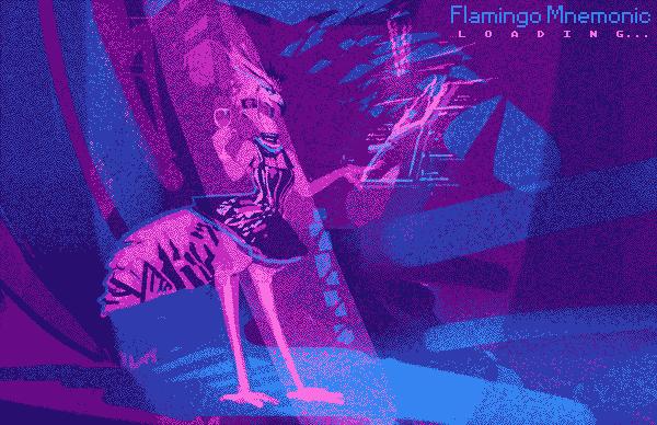 Flamingo Mnemonic loading screen by turbinedivinity
