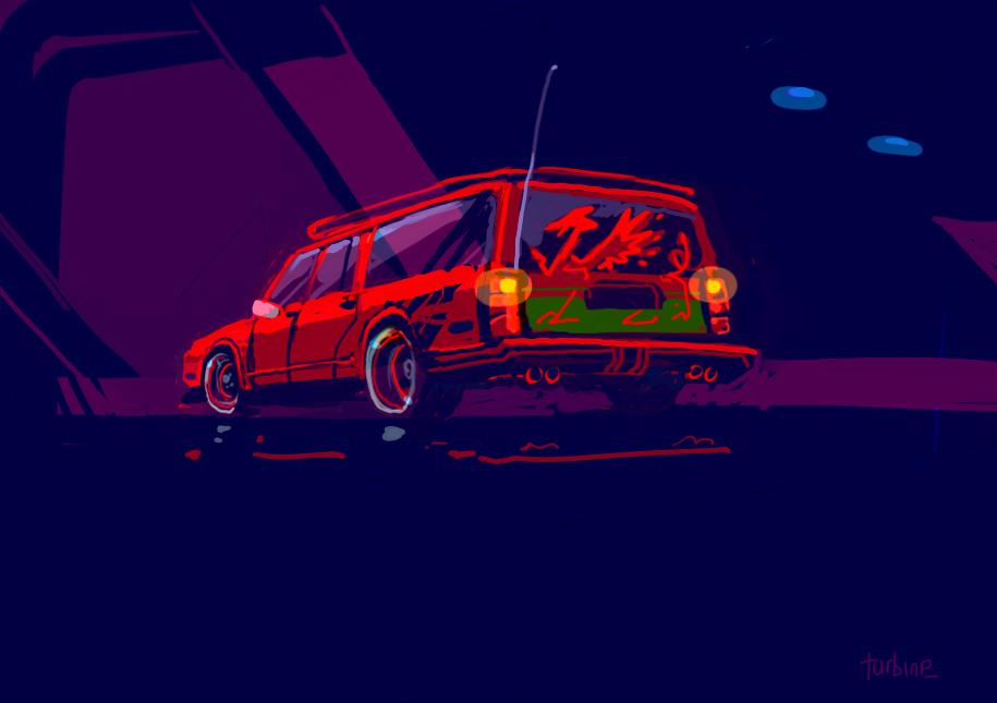 Red Wagon by turbinedivinity
