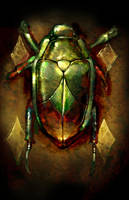 Scarab Beetle by turbinedivinity