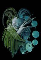 Green Harlequin by misha-dragonov