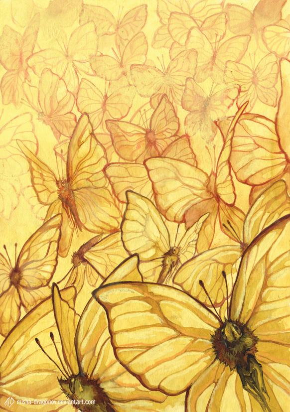 Mariposas amarillas por misha-Dragonov