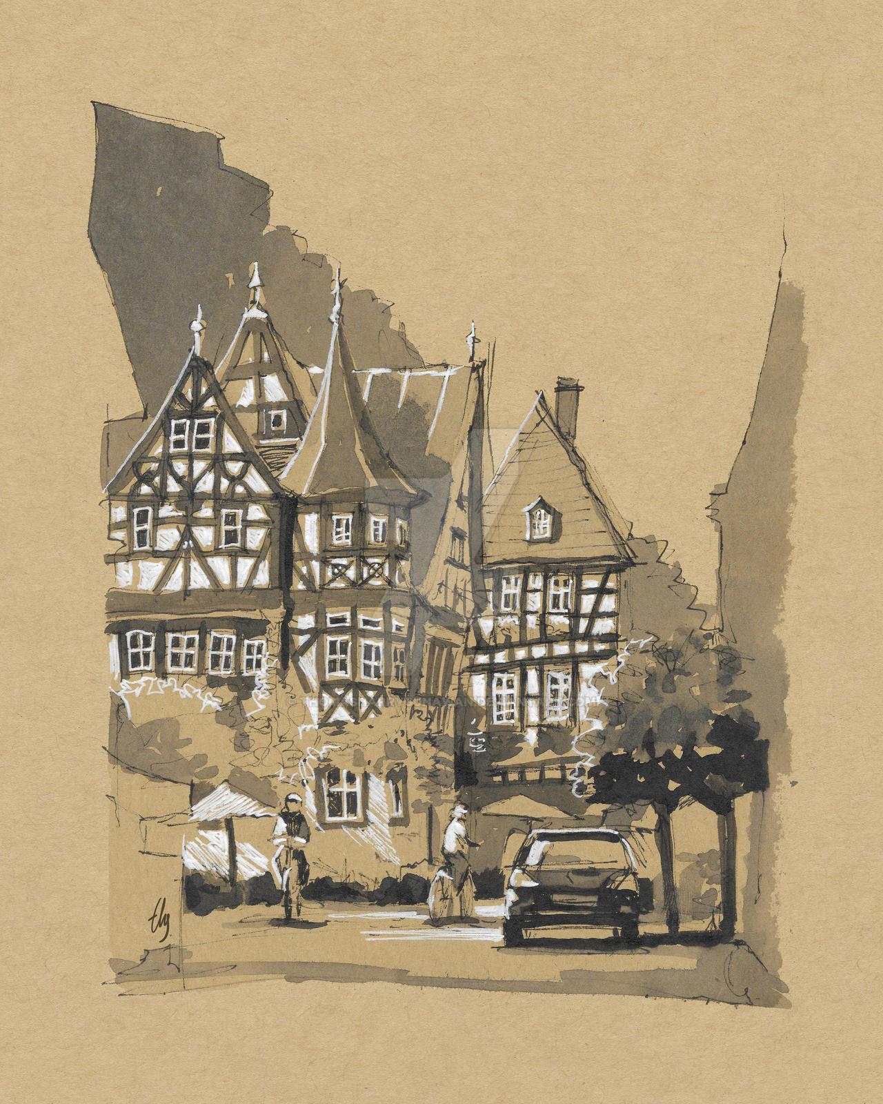 Bacharach Town, Germany