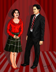 Audrey Horne and Special Agent Dale Cooper