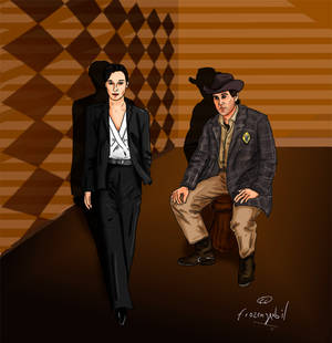 Josie Packard and Sheriff Harry S. Truman