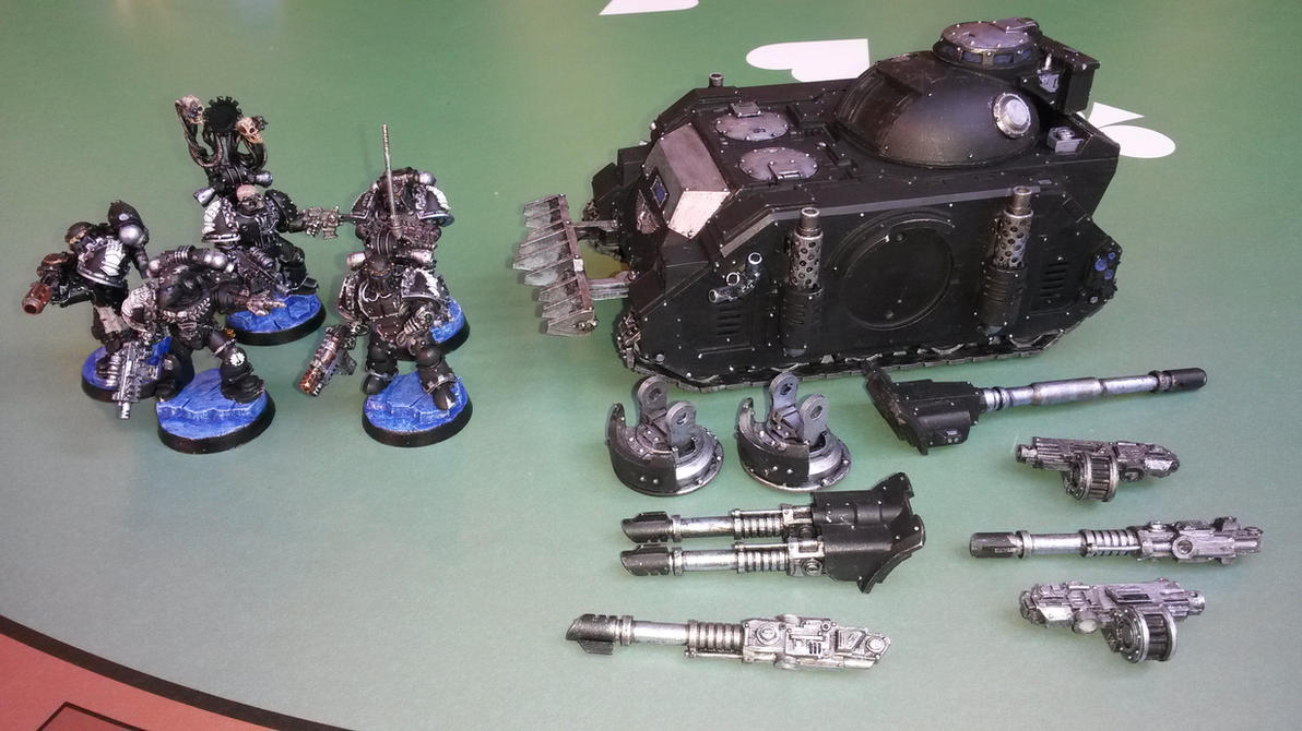 Sternguard Squad and Predator - WIP 3 by Allerka