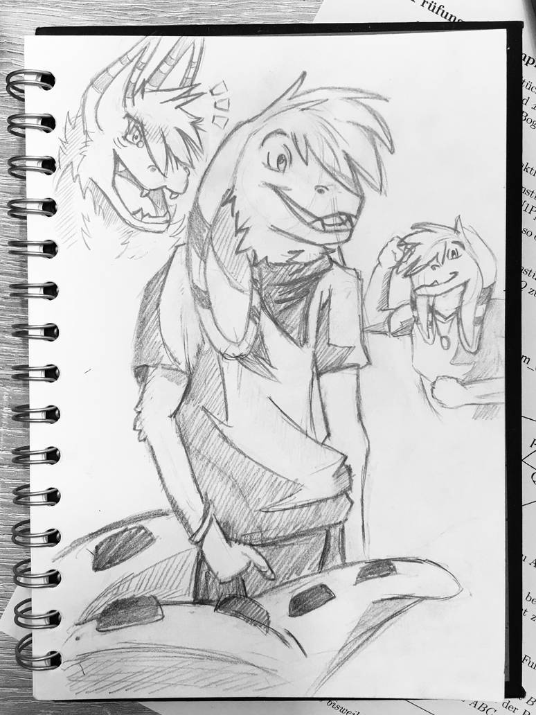 Little sketch of a cute boy by paanther