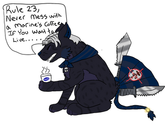 Never Mess With A Marines Coffee by Psychomagician24