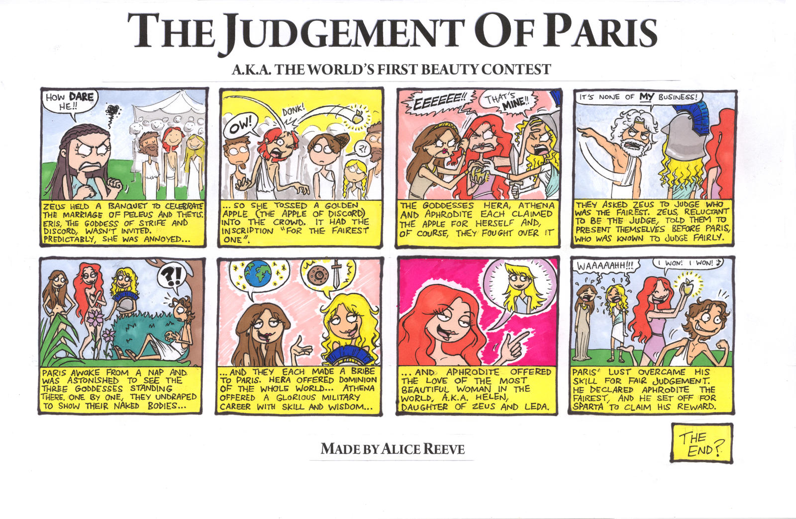 the judgment of paris Author's note:this story is a sort of thought experiment it asks what would it  look like if the judgement of paris happened very differently the.