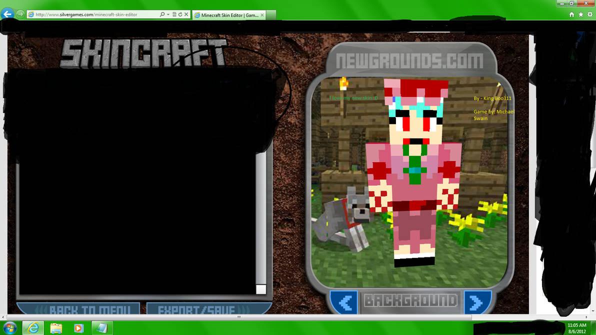 minecraft skin maker game newgrounds