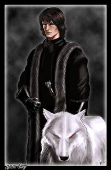 Jon Snow and Ghost by Amok by Xtreme1992