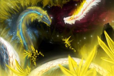 Speedpaint 02- Hydra of the crystal ruin by Rowiehz