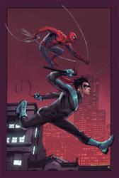 Spiderman nightwing by Eddy-Swan-Colors