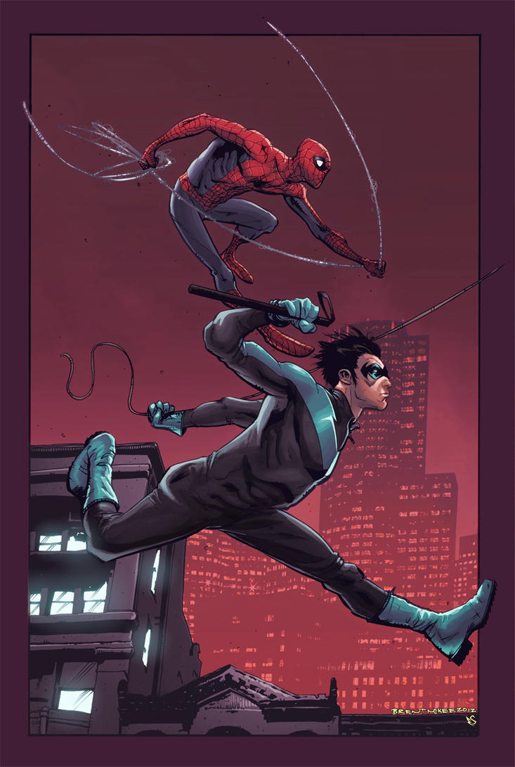 Spiderman nightwing by Eddy-Swan-Colors
