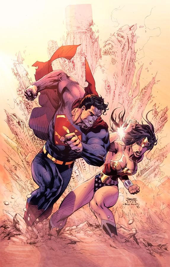 Superman Vs Wonderwomen by Eddy-Swan