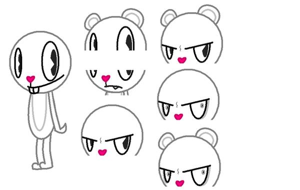how to draw happy tree friends