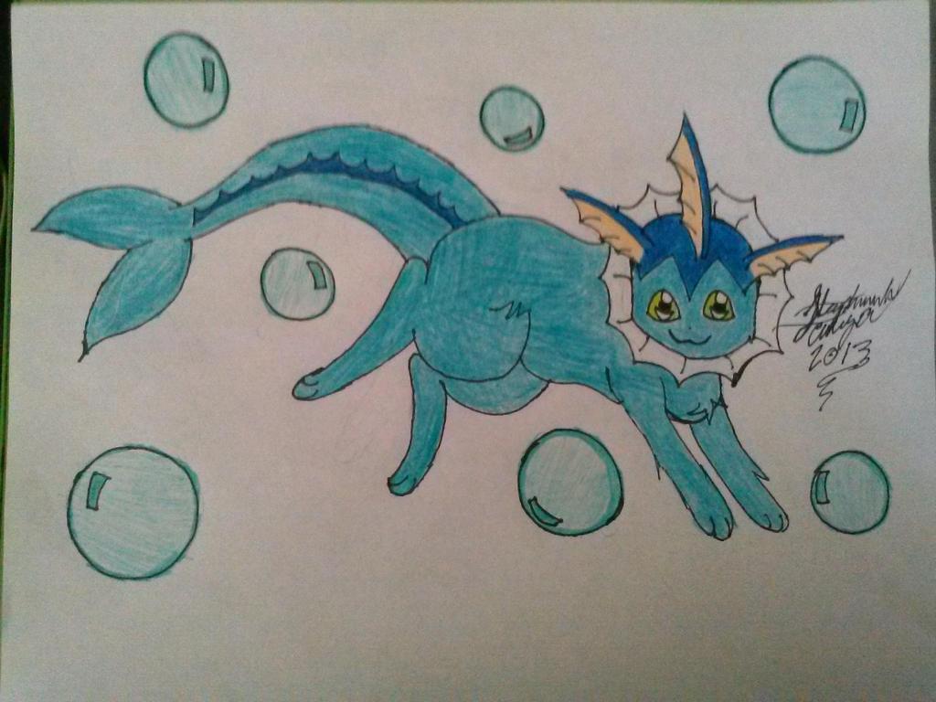 Vaporeon Drawing :3 by Miku-chan9