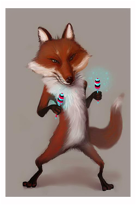 foxes with maracas
