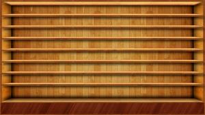 Wood Shelves Wallpaper