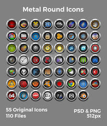Metal Round Icons
