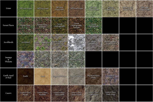 Base Map Pack 1 Reference Sheet