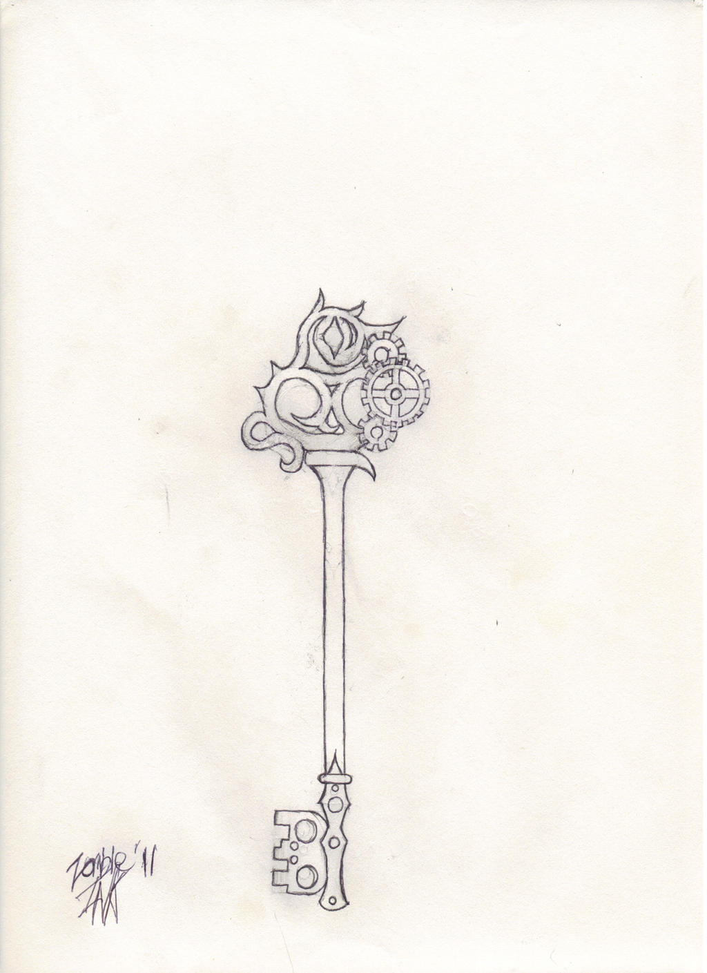 The Skeleton Key Sketch by ZombieBerlioz