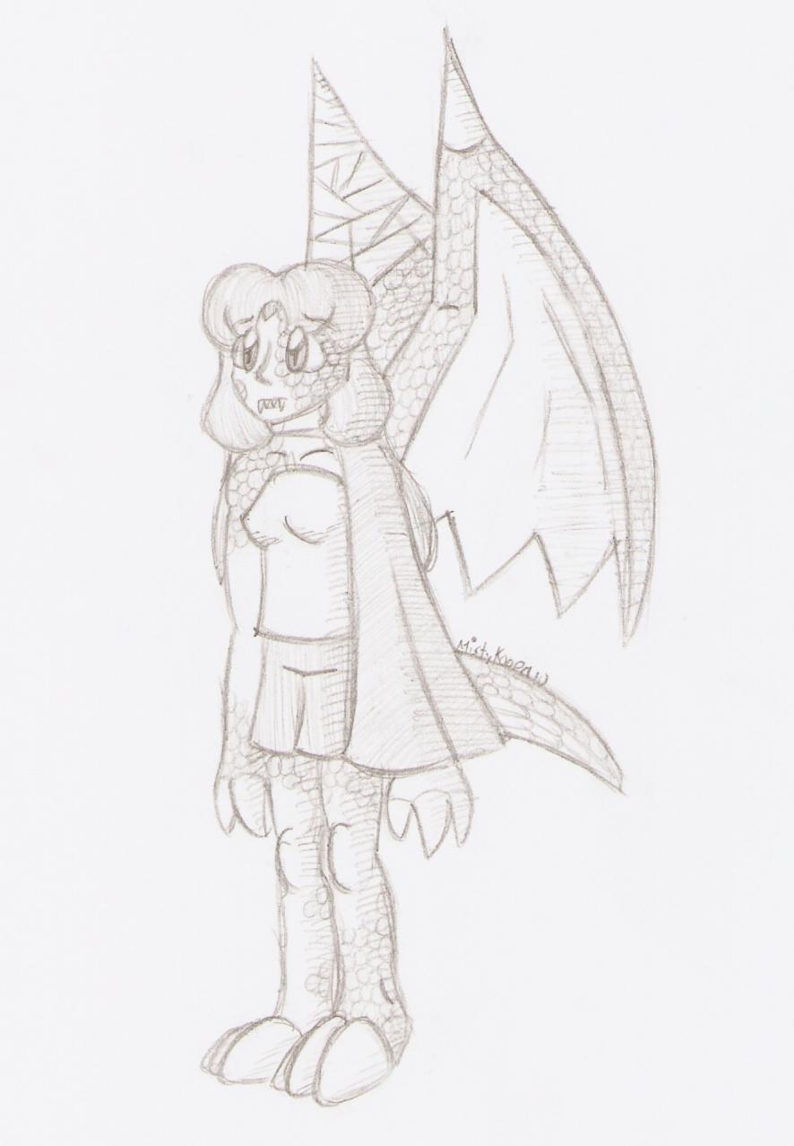 Sketch: DragonStar Cecilia by MistyKoopa