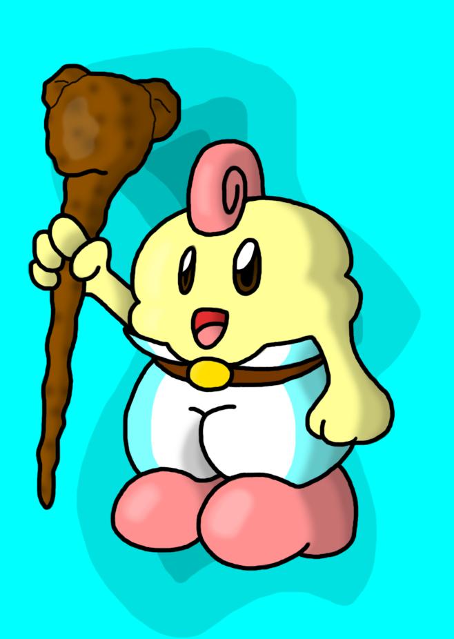 Stick-wielding Mallow by MistyKoopa