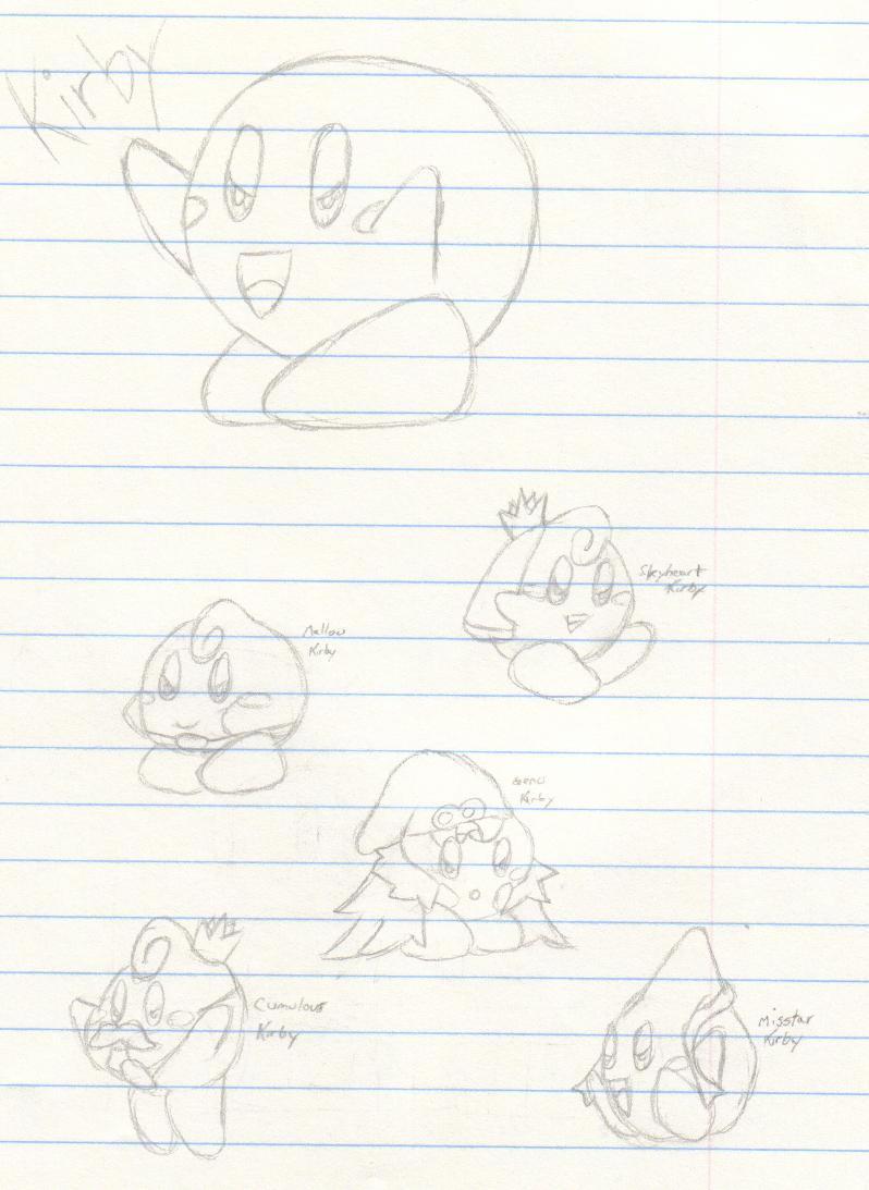 SMRPG Kirby's by MistyKoopa