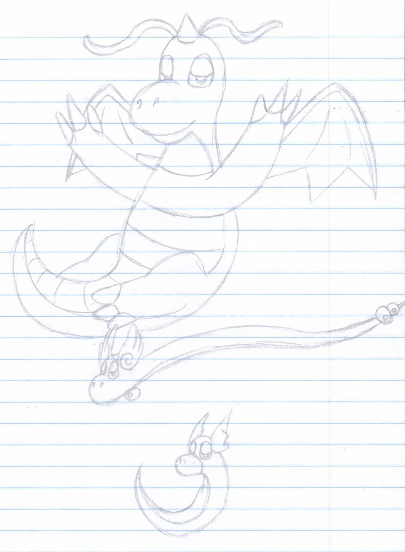 Dragon Evolutionary Trio by MistyKoopa