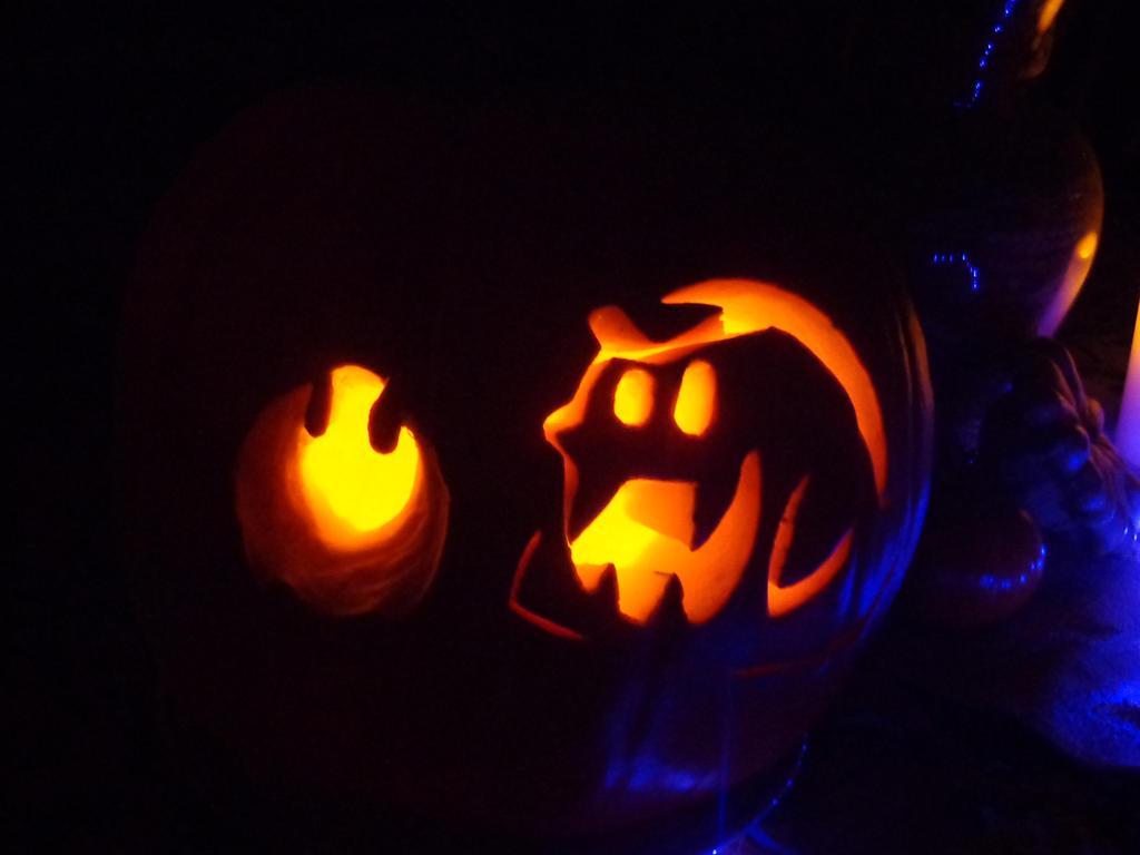 Halloween pumpkin - Boo and Podoboo by MistyKoopa