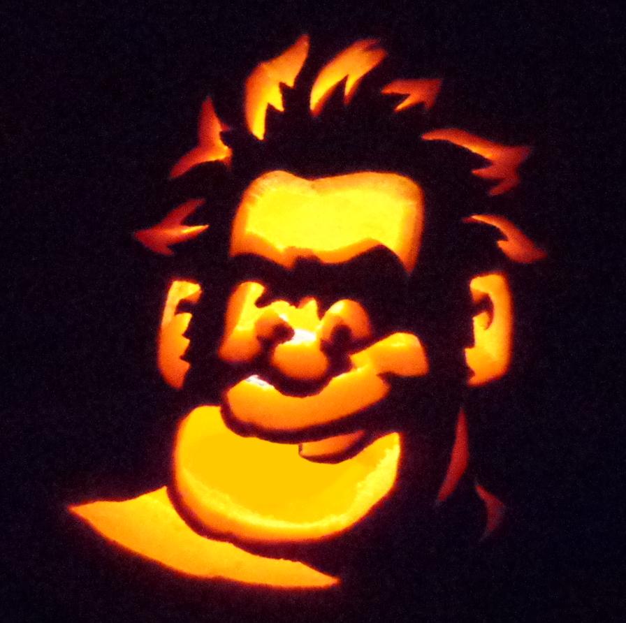 Halloween pumpkin - Wreck-It Ralph by MistyKoopa