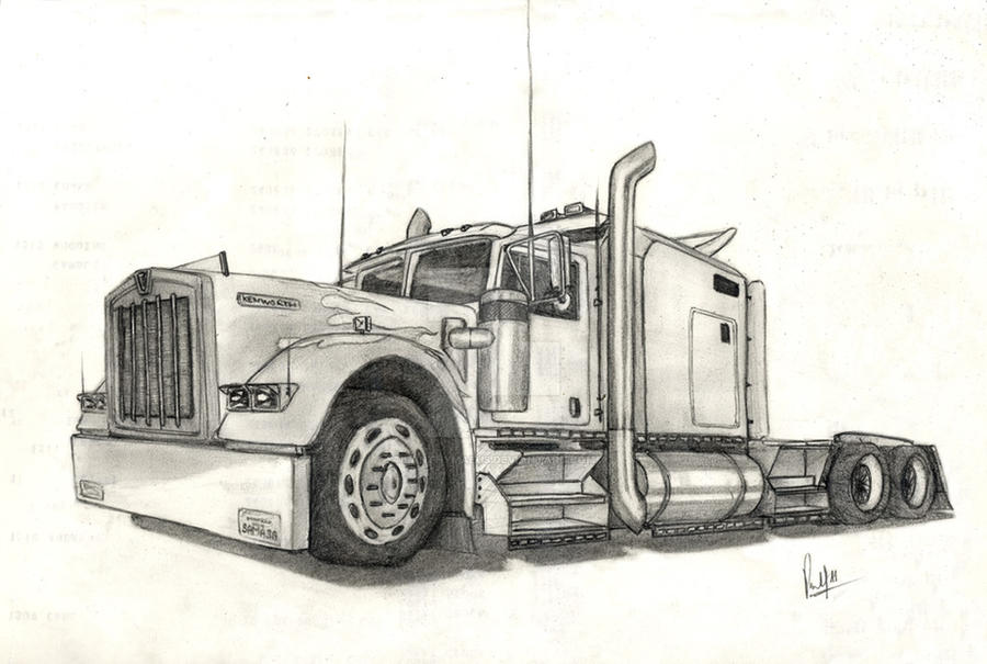 Big Truck Printable Coloring Pages