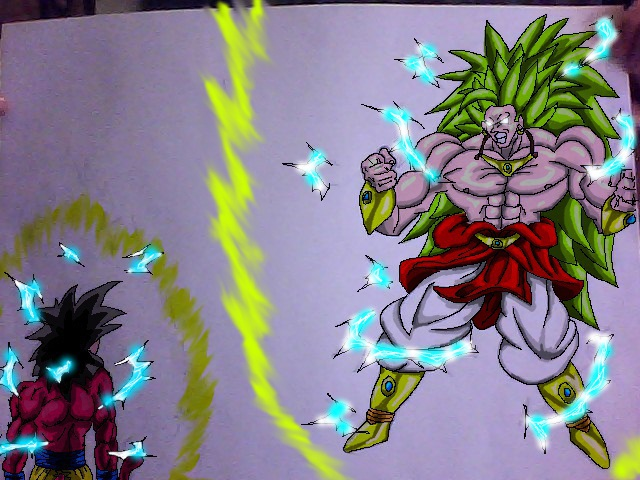 ssj4 goku vs ssj3 broly by DensetsunoDavide on DeviantArt
