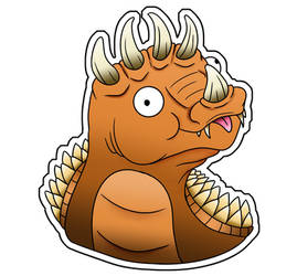 Cute Godzilla Stickers - Anguirus by XiliansFan