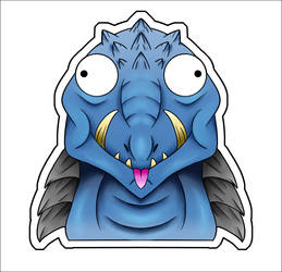 Cute Kaiju Stickers - Gamera by XiliansFan