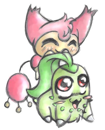 Pokemon love skitty chikorita by lululucious on deviantart - Pokemon skitty ...