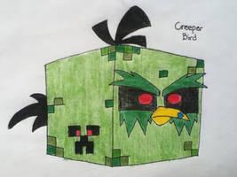 Angry Birds OCs: Creeper Bird by AngryWhiteBird