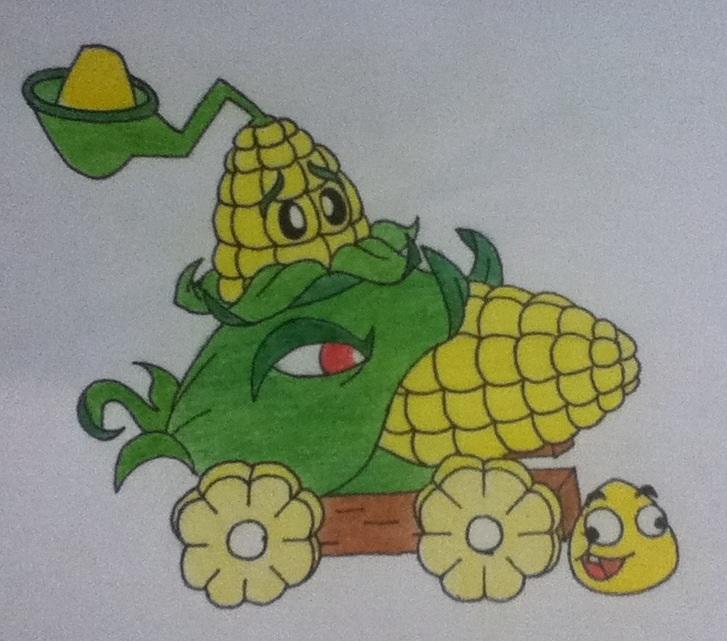 Plants Vs Zombies: Corn by AngryWhiteBird