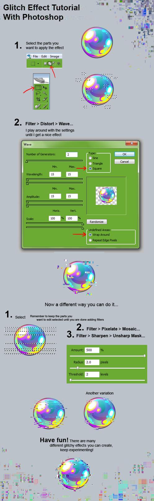 Glitch Effect Tutorial by Kawiku