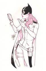 Batgirl Sketch by ArtisticPhun