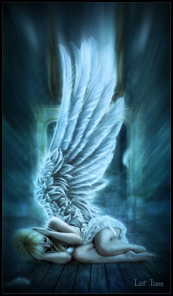 fantasy art angel sad - photo #8