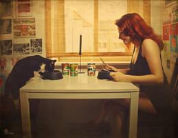 2 nasch-Katzen by LilifIlane