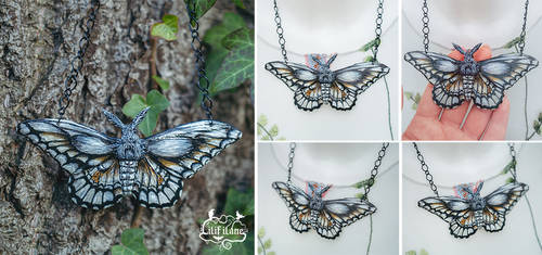 Papilio Cresphontes Necklace
