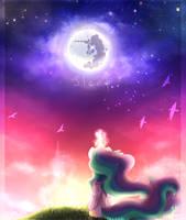 Celestia and moon by kotosova