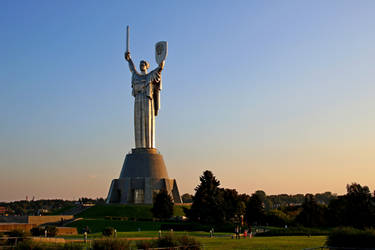 The Motherland Monument color by evilcrowbar